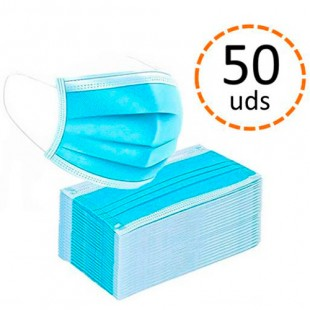 Mascarillas Quirurgicas Adultos pack 50 uds. (1 ud. 0.40€ )