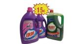 2 bot. Colon Vanish Detergente Liquido 40 dosis + Fairy 5 LItros
